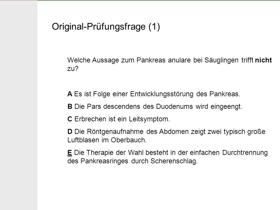 Original-Prüfungsfrage (2) Ein reifes bisher unauffälliges Neugeborenes beginnt am 3.