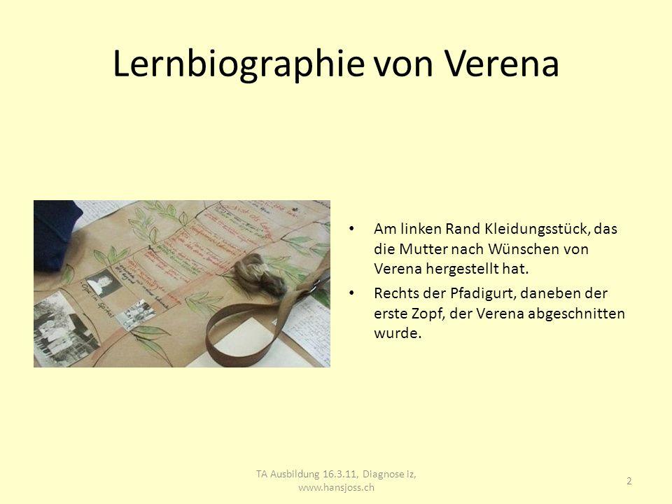 Lernbiographie von Verena 3 TA Ausbildung 16.3.11, Diagnose iz, www.hansjoss.ch