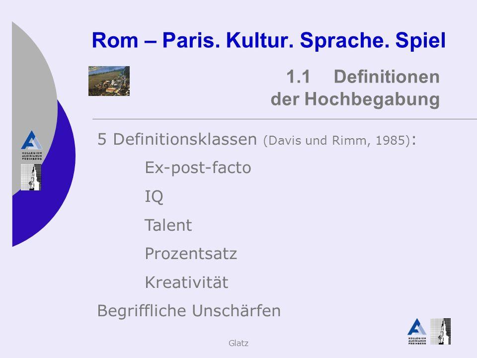 Glatz&Klopf Rom – Paris.Kultur. Sprache.