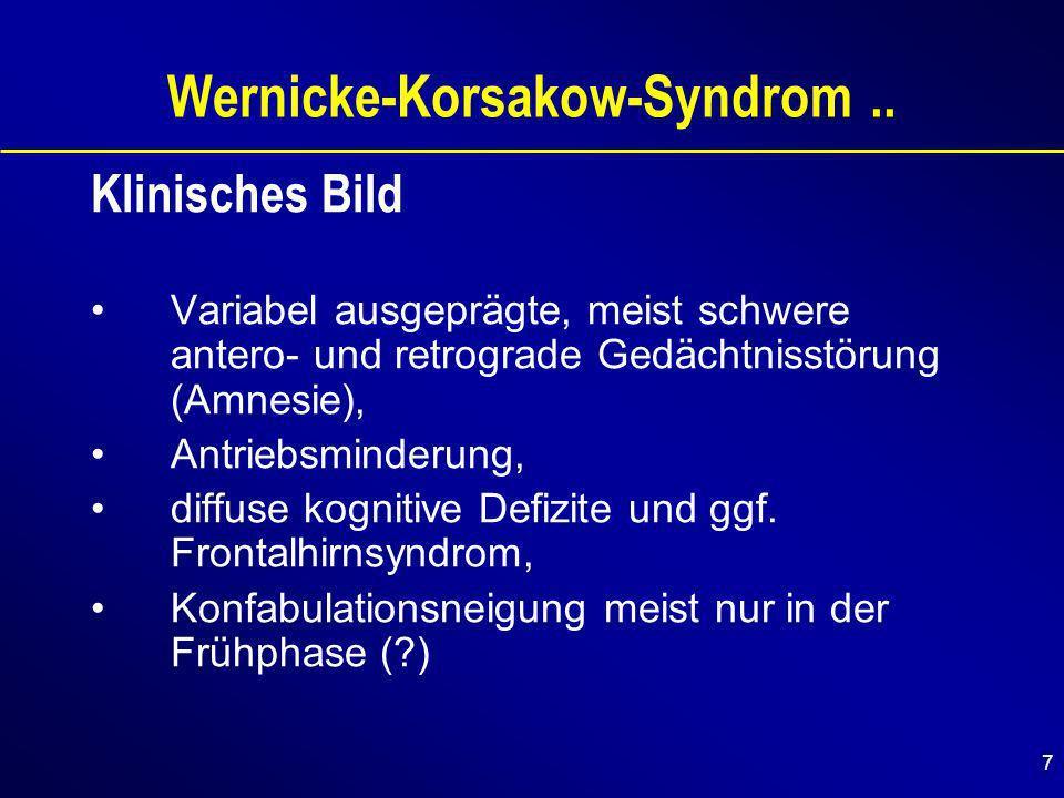 7 Wernicke-Korsakow-Syndrom..