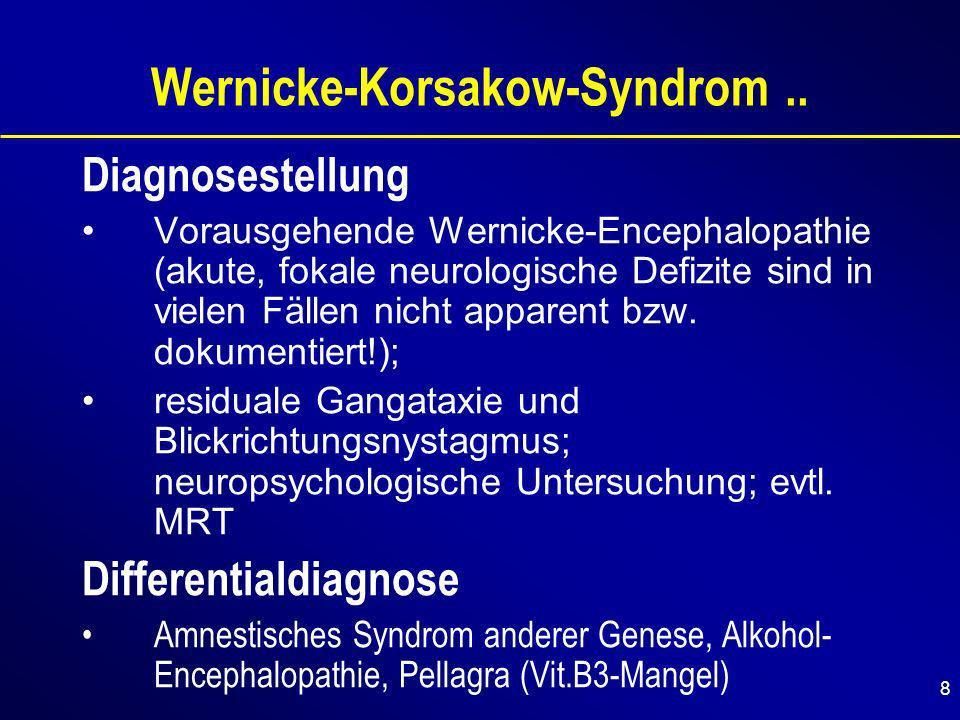 8 Wernicke-Korsakow-Syndrom..