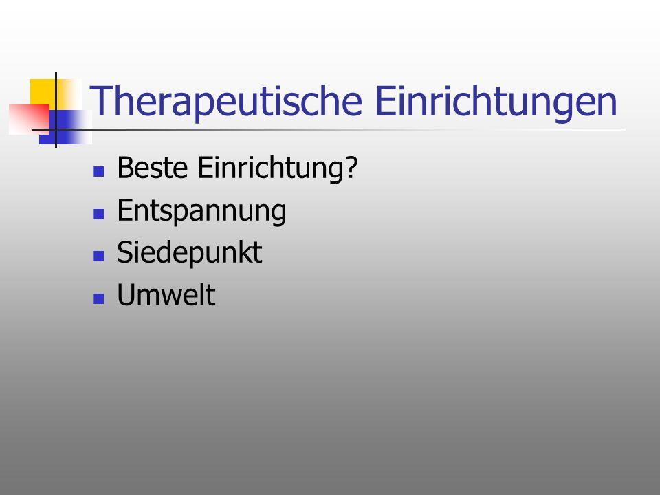 Therapeutische Einrichtungen Beste Einrichtung? Entspannung Siedepunkt Umwelt