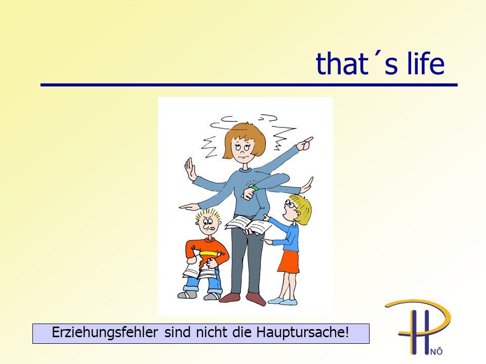 that´s life Erziehungsfehler sind nicht die Hauptursache!