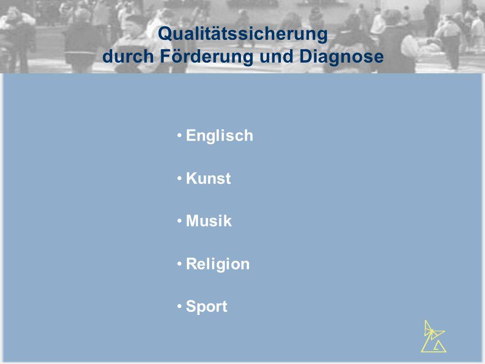 Qualitätssicherung durch Förderung und Diagnose Englisch Kunst Musik Religion Sport