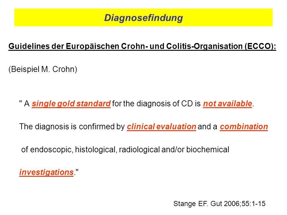 Diagnosefindung Guidelines der Europäischen Crohn- und Colitis-Organisation (ECCO): (Beispiel M. Crohn)