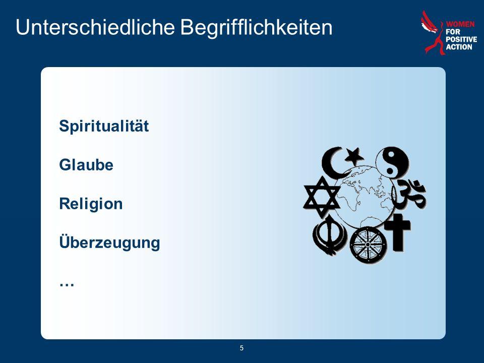 5 Unterschiedliche Begrifflichkeiten Spiritualität Glaube Religion Überzeugung …