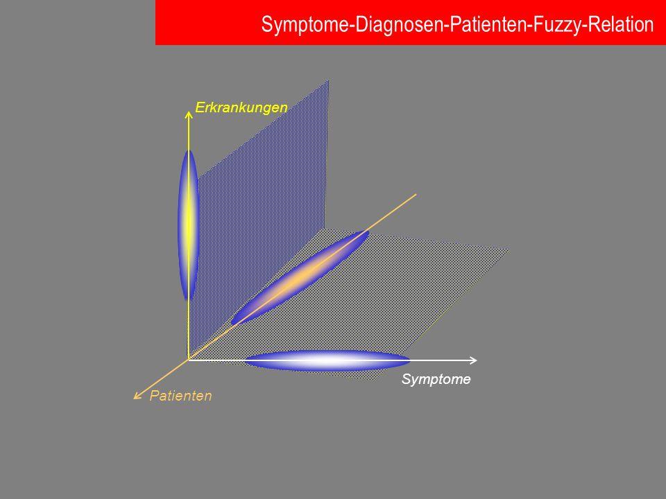 Symptome Symptome-Diagnosen-Patienten-Fuzzy-Relation Patienten