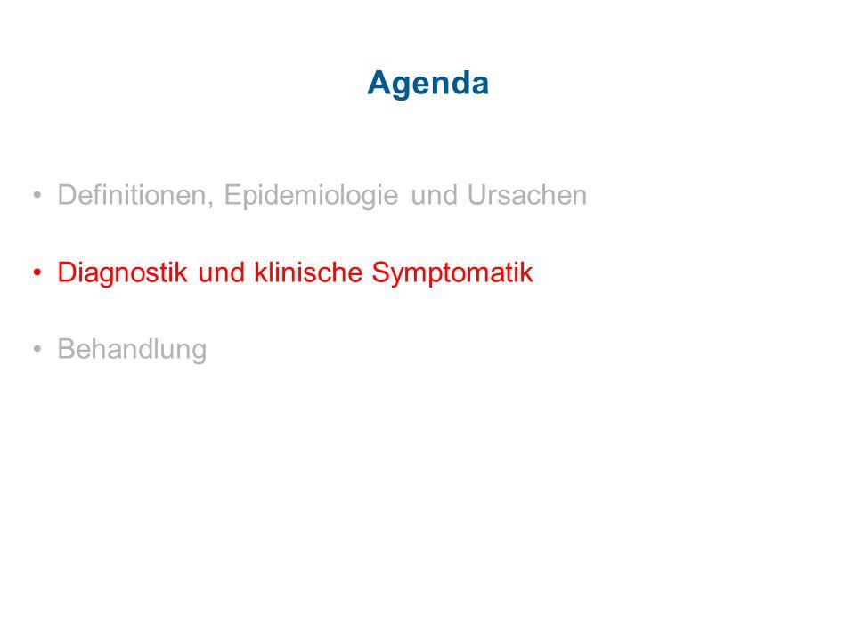 Agenda Definitionen, Epidemiologie und Ursachen Diagnostik und klinische Symptomatik Behandlung