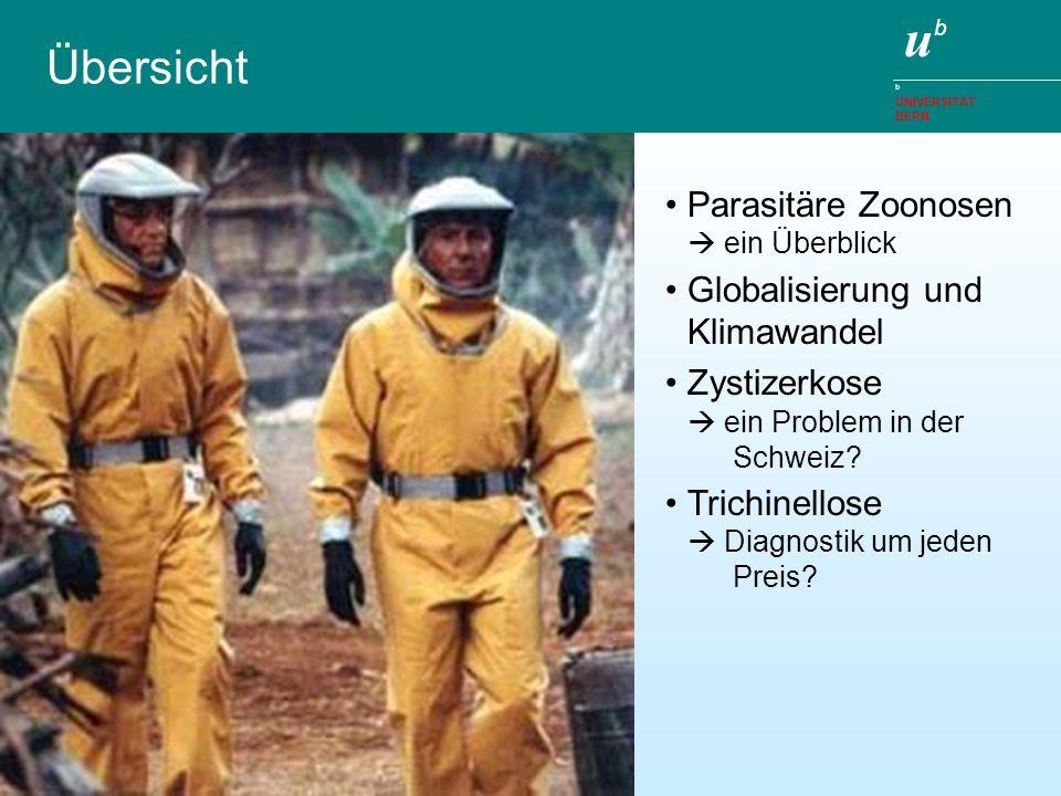 ubub b UNIVERSITÄT BERN Übersicht Parasitäre Zoonosen ein Überblick Globalisierung und Klimawandel Zystizerkose ein Problem in der Schweiz? Trichinell
