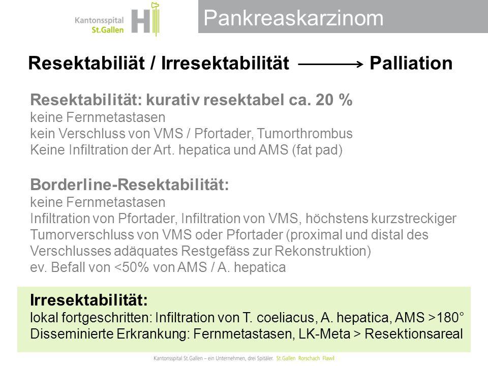 Pankreaskarzinom Endoskopische Palliation Biliäre Obstruktion Gastric outlet obstruction Schmerzen