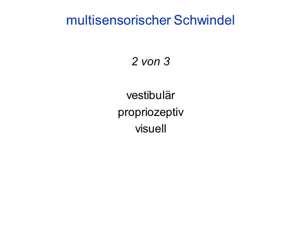 2 von 3 vestibulär propriozeptiv visuell