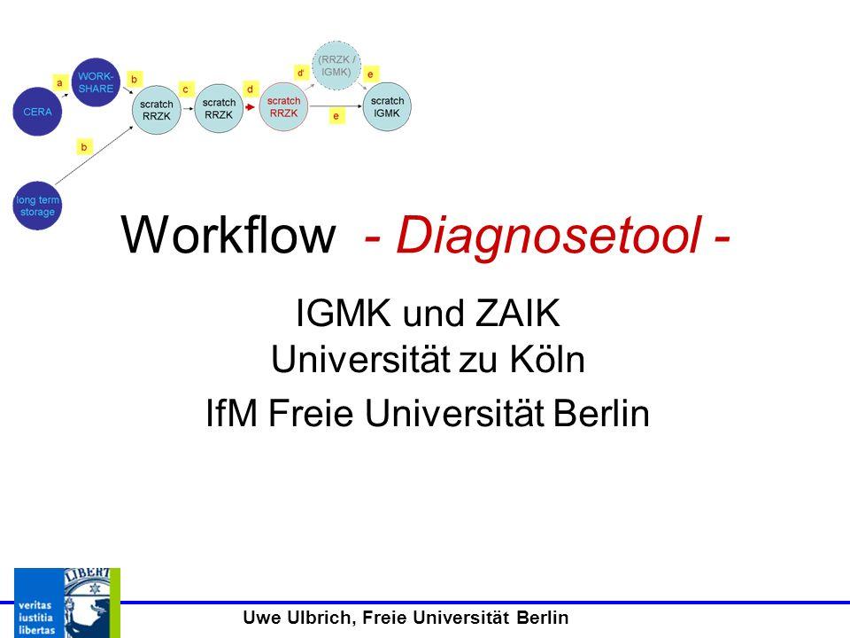 Uwe Ulbrich, Freie Universität Berlin Workflow - Diagnosetool - IGMK und ZAIK Universität zu Köln IfM Freie Universität Berlin
