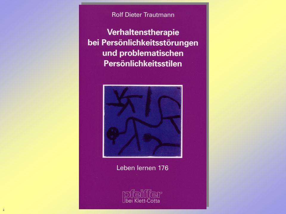 3 Gliederung I.Verhaltenstheoretische Sichtweisen von Persönlichkeit 1.Das transaktionale Modell von Lazarus 2.Die biosoziale Lerntheorie von Millon II.Was ist Verhaltenstherapie.