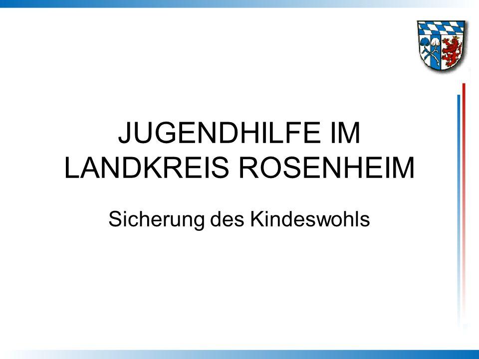 JUGENDHILFE IM LANDKREIS ROSENHEIM Sicherung des Kindeswohls