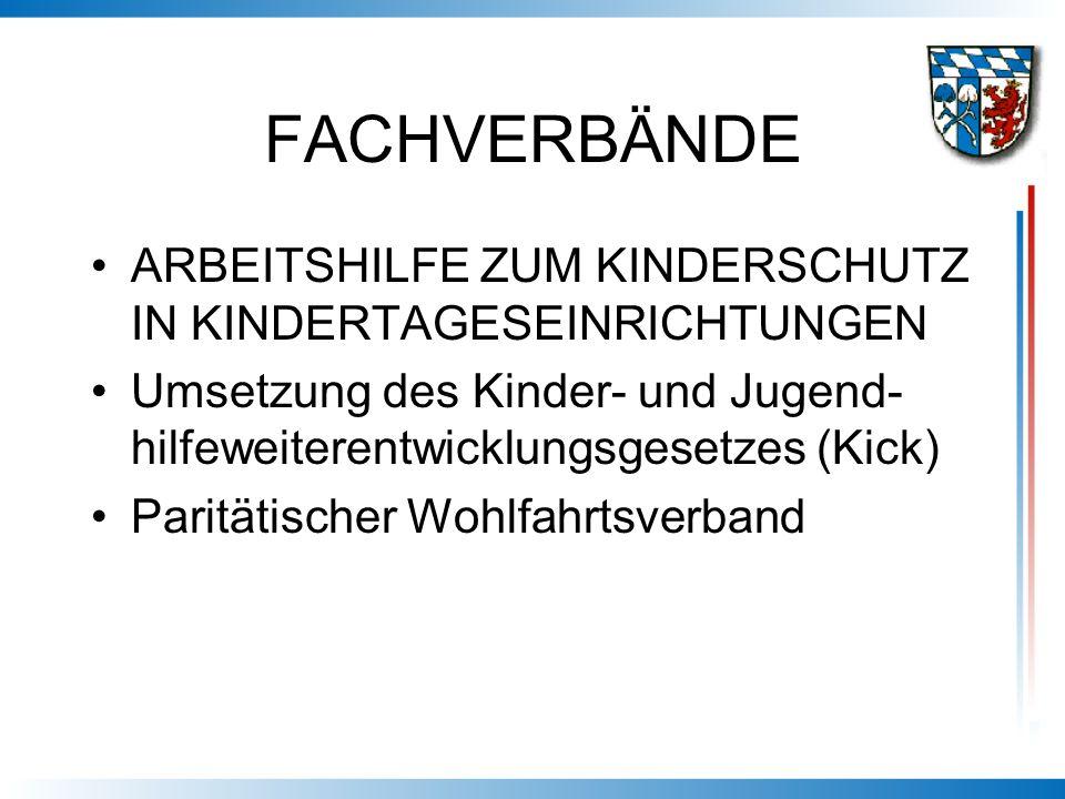 FACHVERBÄNDE ARBEITSHILFE ZUM KINDERSCHUTZ IN KINDERTAGESEINRICHTUNGEN Umsetzung des Kinder- und Jugend- hilfeweiterentwicklungsgesetzes (Kick) Paritä