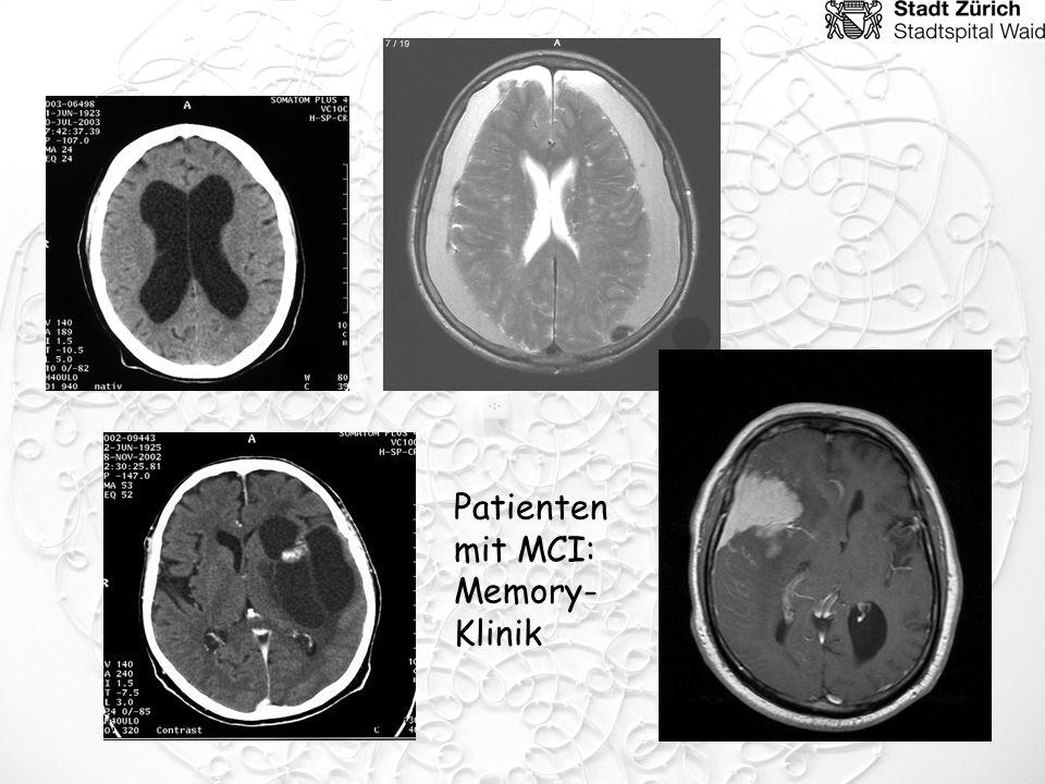 Patienten mit MCI: Memory- Klinik
