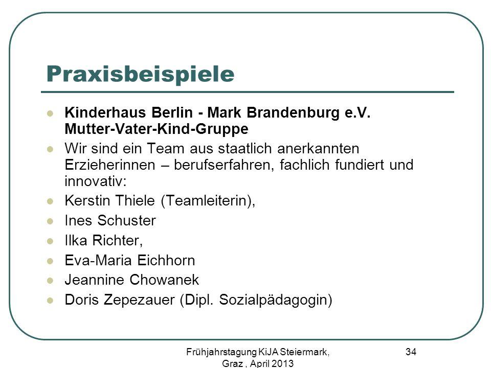 Praxisbeispiele Kinderhaus Berlin - Mark Brandenburg e.V. Mutter-Vater-Kind-Gruppe Wir sind ein Team aus staatlich anerkannten Erzieherinnen – berufse