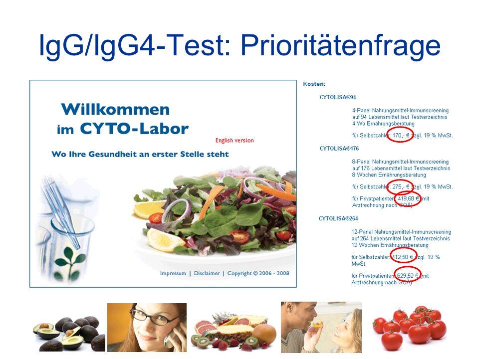 IgG/IgG4-Test: Prioritätenfrage