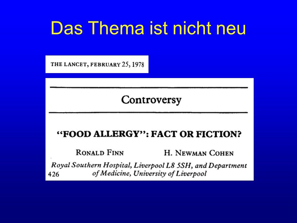 Nahrungsmittelunverträglichkeit Diagnostik: IgG- und IgG4-Bestimmung Kleine-Tebbe, J.