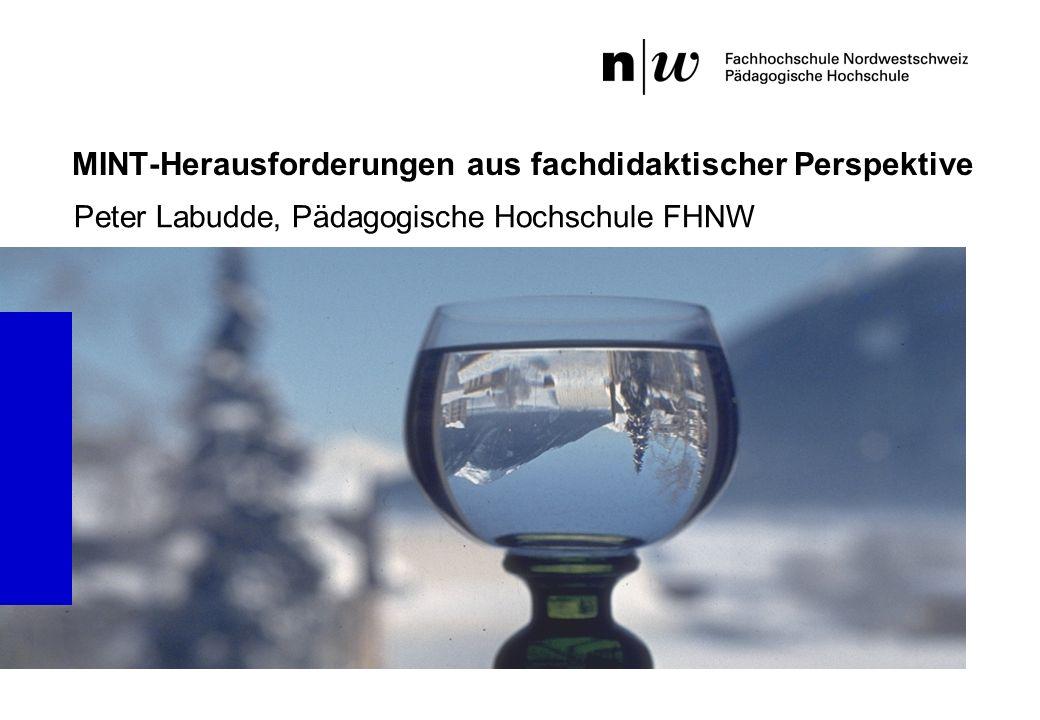 MINT-Herausforderungen aus fachdidaktischer Perspektive Peter Labudde, Pädagogische Hochschule FHNW