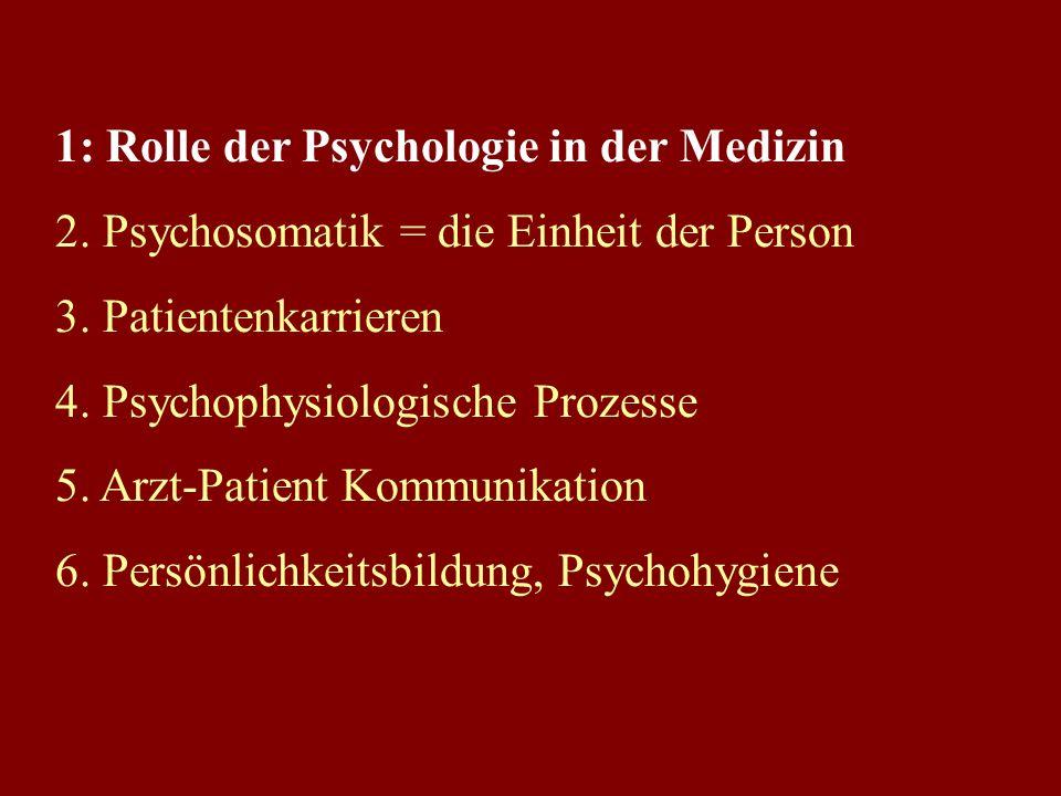 0. Begriffsklärung: Psychische Funktionen dienen der 1) Orientierung, der 2) Regulation und der 3) Anpassung + beim Menschen kommt Bewusstsein hinzu (