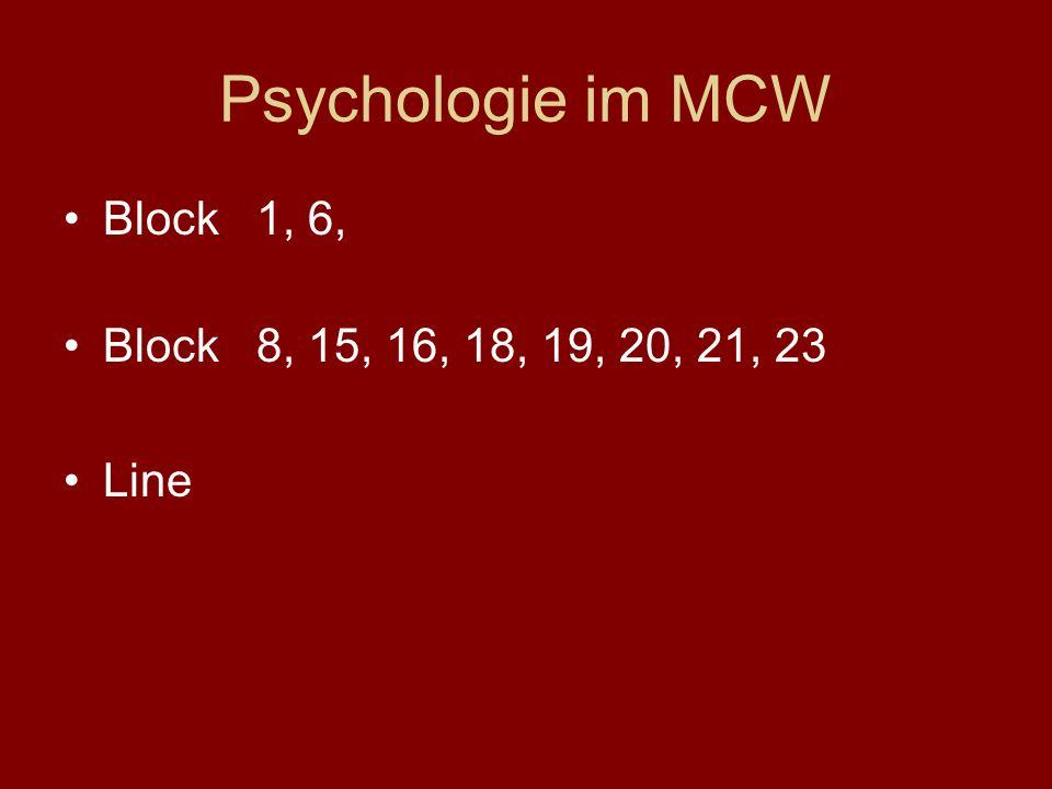 Medizinische Universität Wien Studieneingangsphase (Block 1) WS 2009/10 Medizinische Psychologie ao. Univ. Prof. Dr. Oskar Frischenschlager Zentrum fü