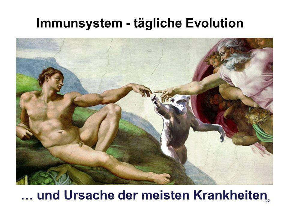 32 Immunsystem - tägliche Evolution … und Ursache der meisten Krankheiten