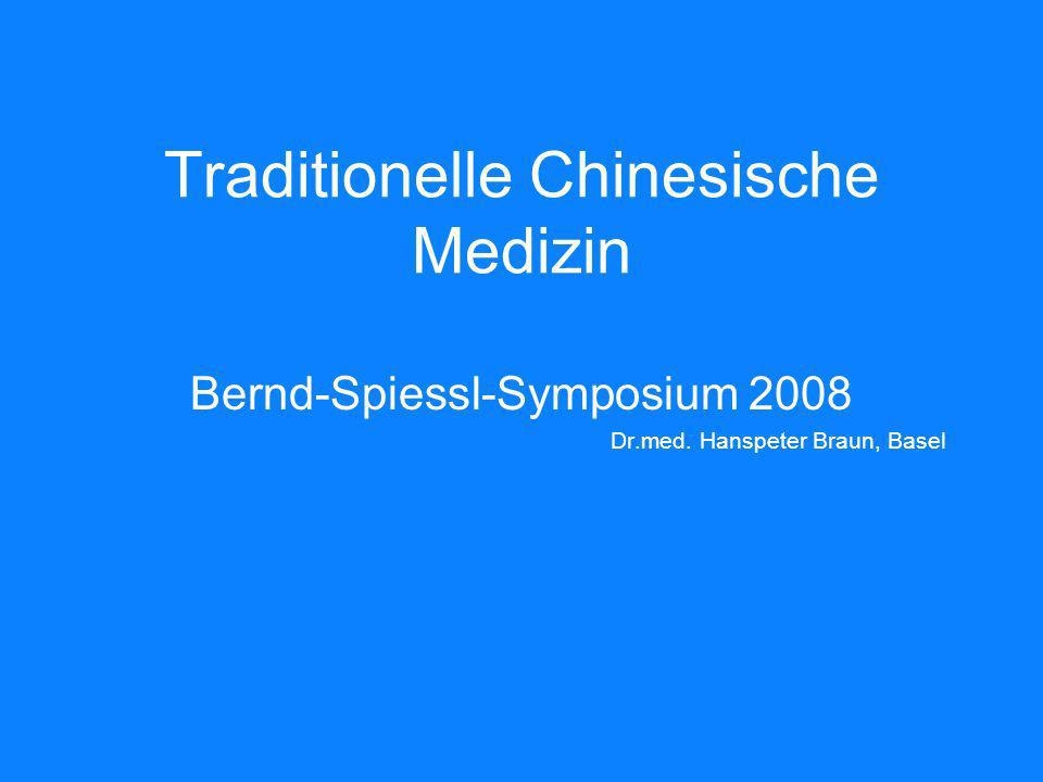 Traditionelle Chinesische Medizin Bernd-Spiessl-Symposium 2008 Dr.med. Hanspeter Braun, Basel