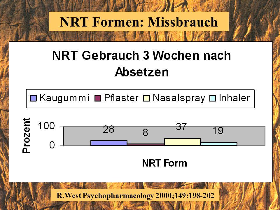 R.West Psychopharmacology 2000;149:198-202 NRT Formen
