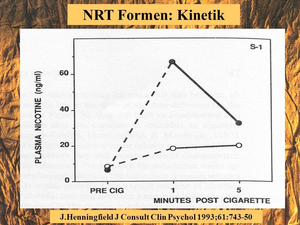 NRT: Kardiovaskuläre Toxizität (4) Patienten mit KHK Angina pectoris Arrythmien Herzinsuffizienz Plasmanikotin tiefer als Raucher Herztod Infarkt