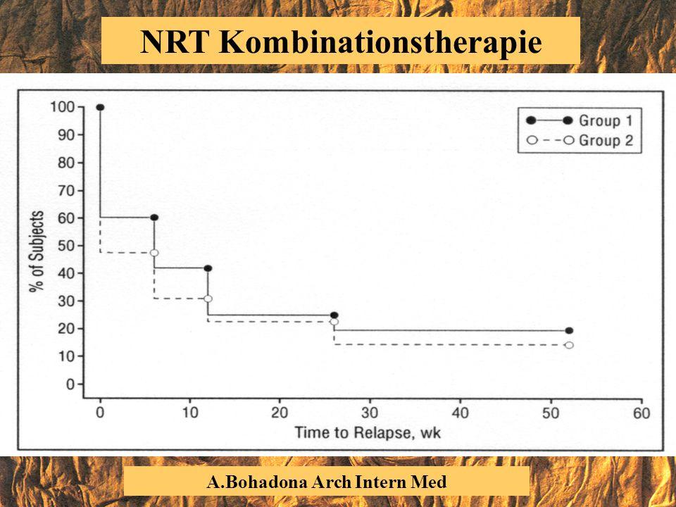 NRT Kombinationstherapie A.Bohadona Arch Intern Med 2000
