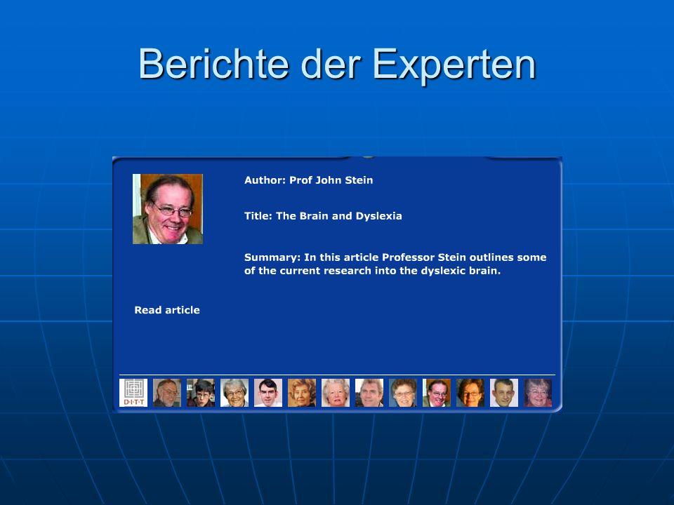Berichte der Experten