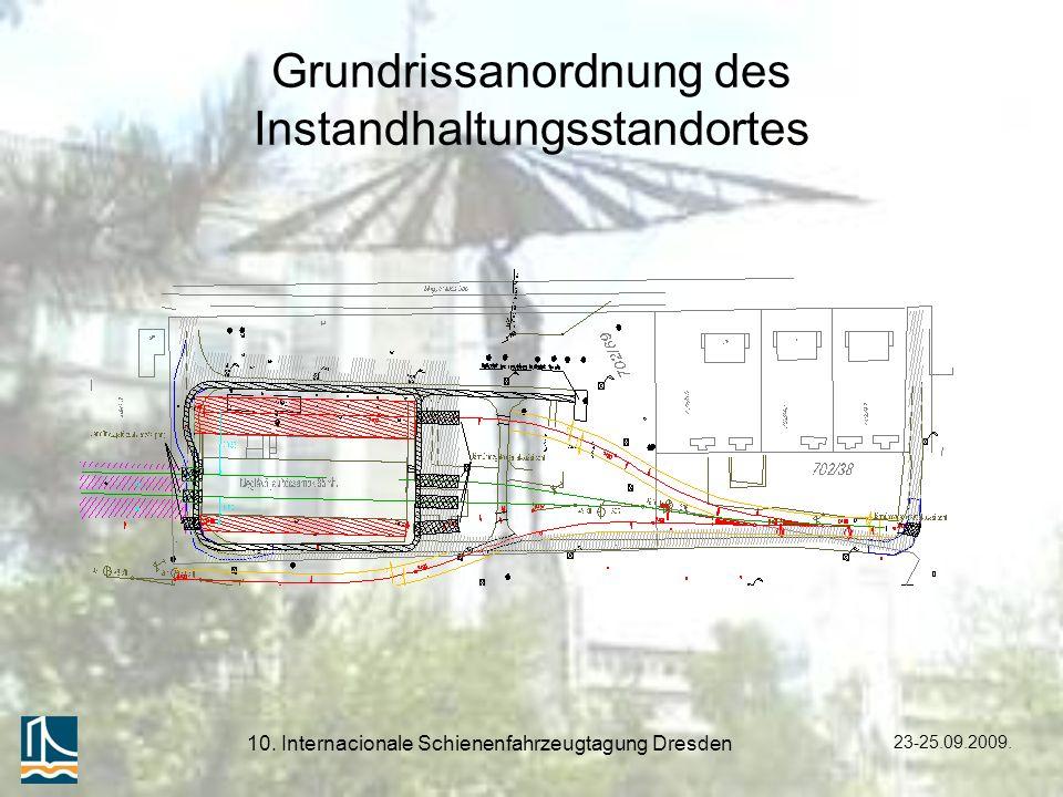 23-25.09.2009. 10. Internacionale Schienenfahrzeugtagung Dresden Grundrissanordnung des Instandhaltungsstandortes