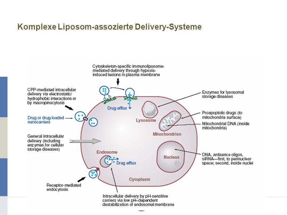 Komplexe Liposom-assozierte Delivery-Systeme