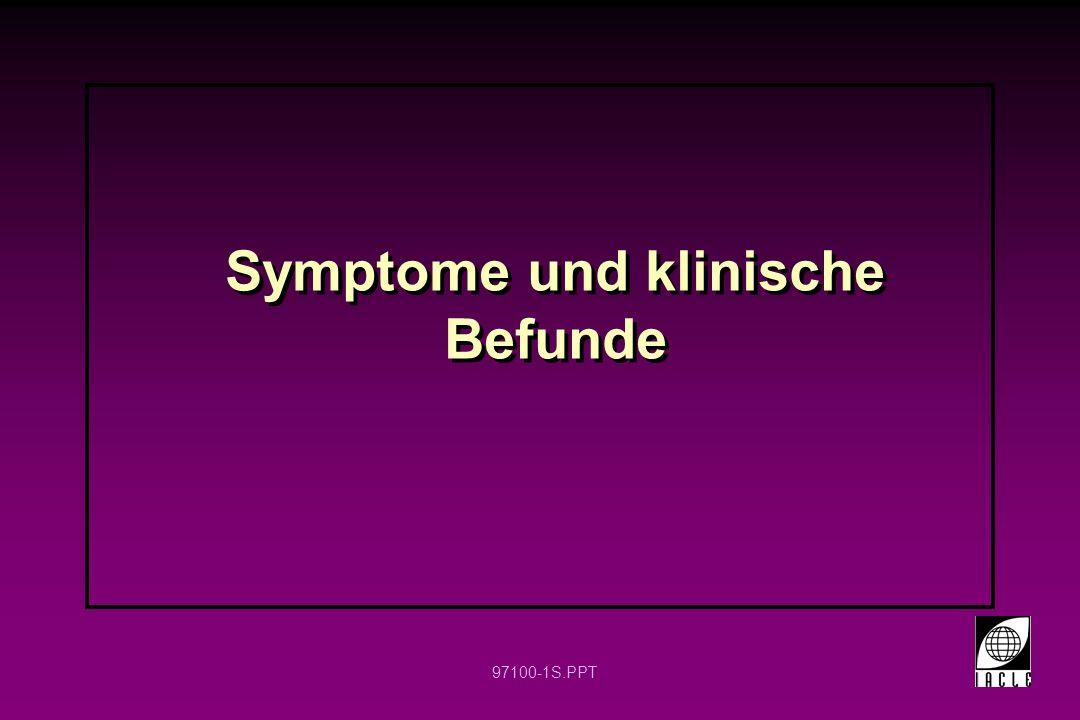 97100-1S.PPT Symptome und klinische Befunde