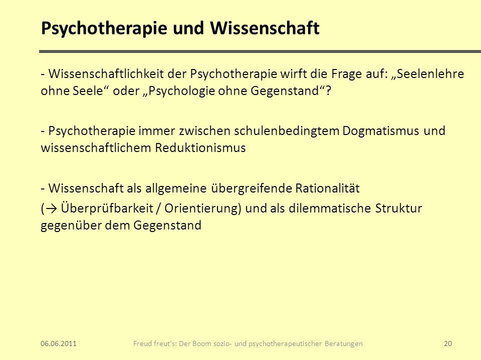 Psychotherapie und Wissenschaft - Wissenschaftlichkeit der Psychotherapie wirft die Frage auf: Seelenlehre ohne Seele oder Psychologie ohne Gegenstand