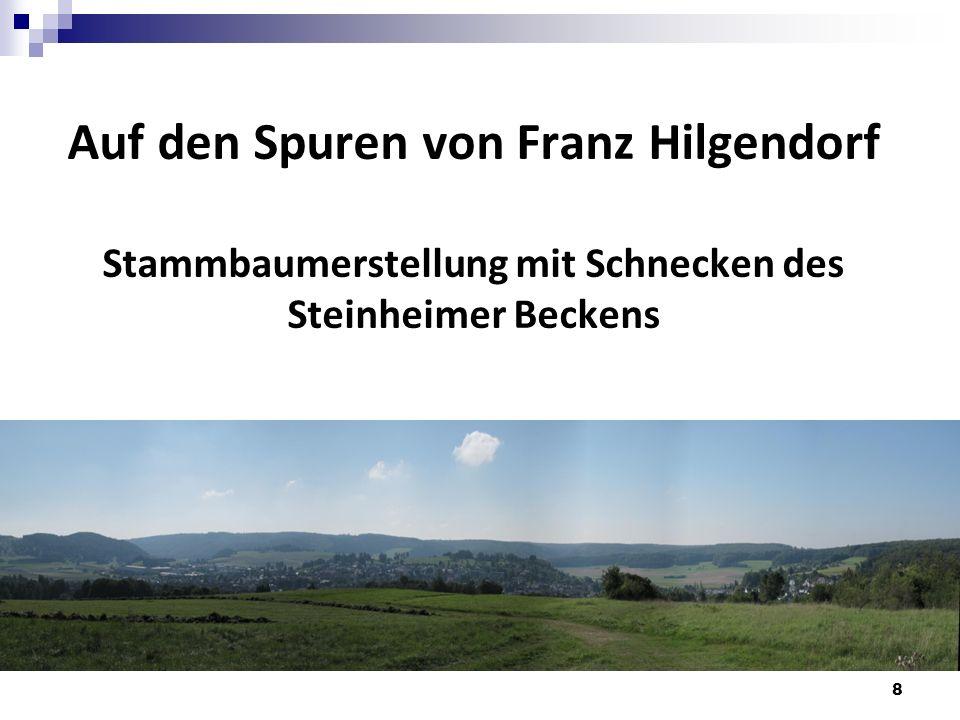Auf den Spuren von Franz Hilgendorf Stammbaumerstellung mit Schnecken des Steinheimer Beckens 8