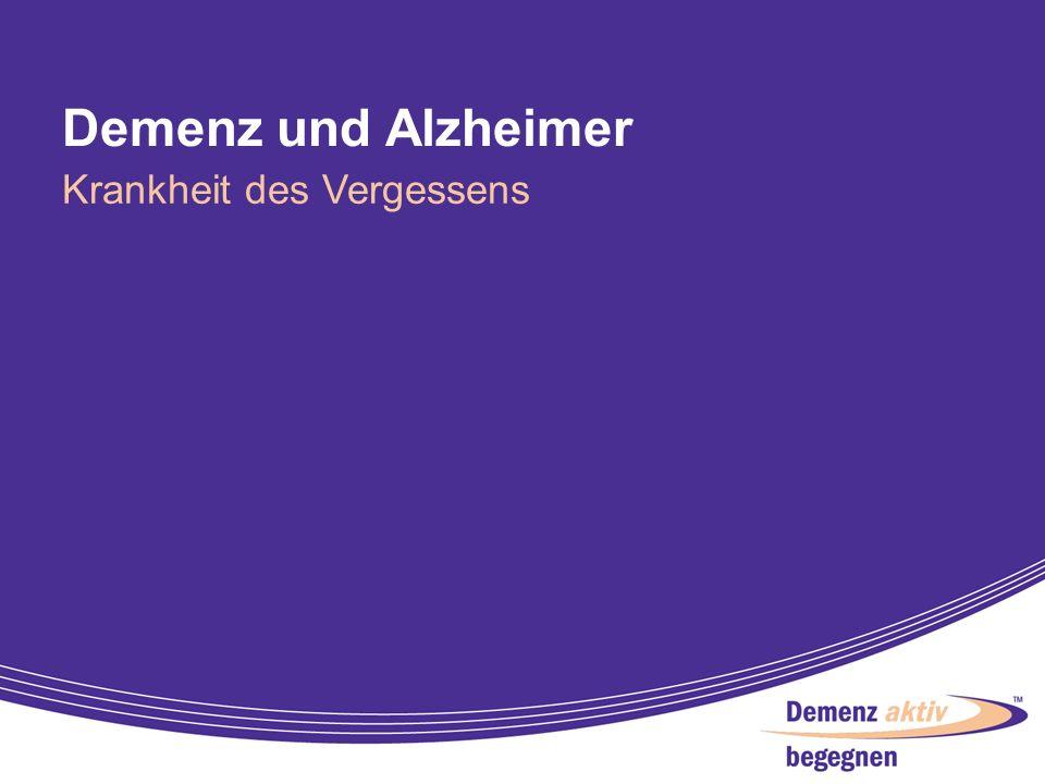 Demenz und Alzheimer Krankheit des Vergessens 2