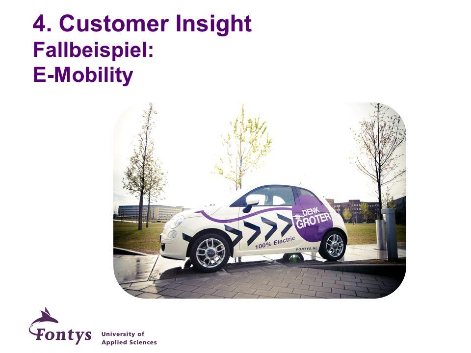 4. Customer Insight Fallbeispiel: E-Mobility