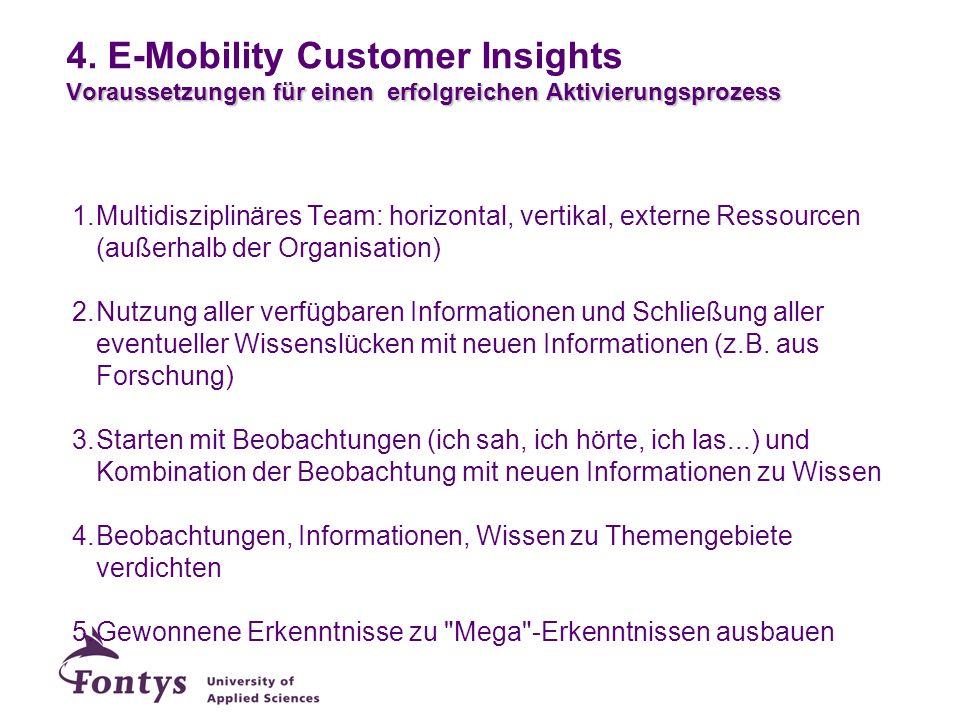 Voraussetzungen für einen erfolgreichen Aktivierungsprozess 4. E-Mobility Customer Insights Voraussetzungen für einen erfolgreichen Aktivierungsprozes