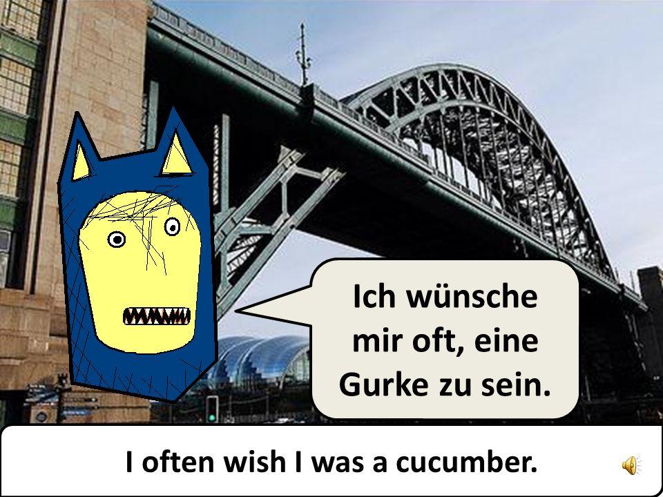 Ich wünsche mir oft, eine Gurke zu sein. I often wish I was a cucumber.