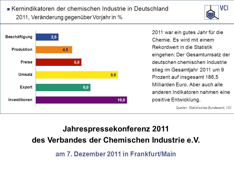 Jahrespressekonferenz 2011 des Verbandes der Chemischen Industrie e.V.