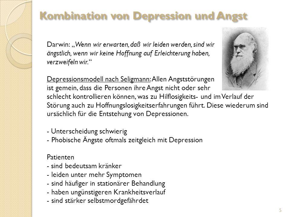 Darwin: Wenn wir erwarten, daß wir leiden werden, sind wir ängstlich, wenn wir keine Hoffnung auf Erleichterung haben, verzweifeln wir. Depressionsmod