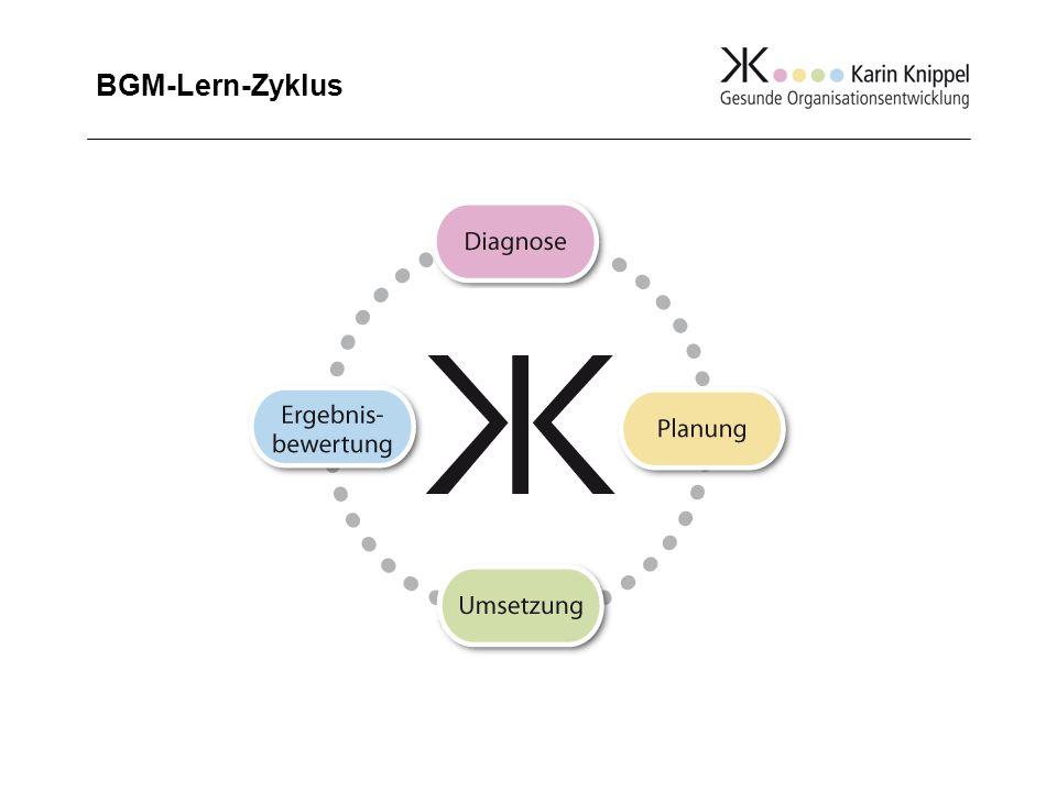 Voraussetzung für die Einführung eines BGM-Lern-Zyklus ist die Einrichtung eines Steuerkreises.