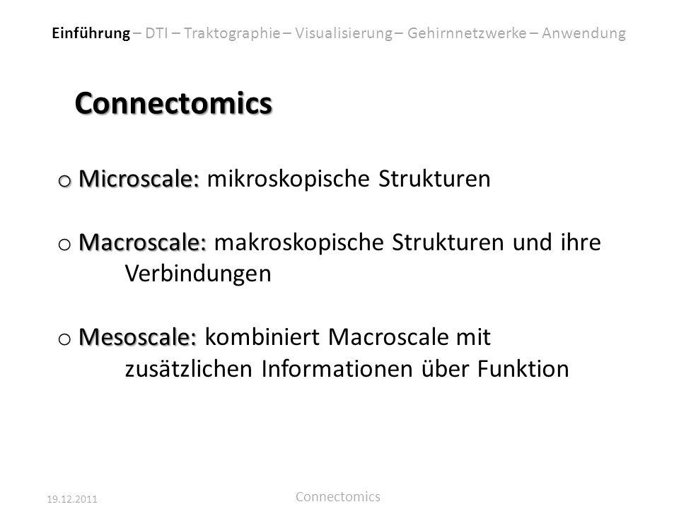 19.12.2011 Connectomics Wir danken herzlichst für eure Aufmerksamkeit.