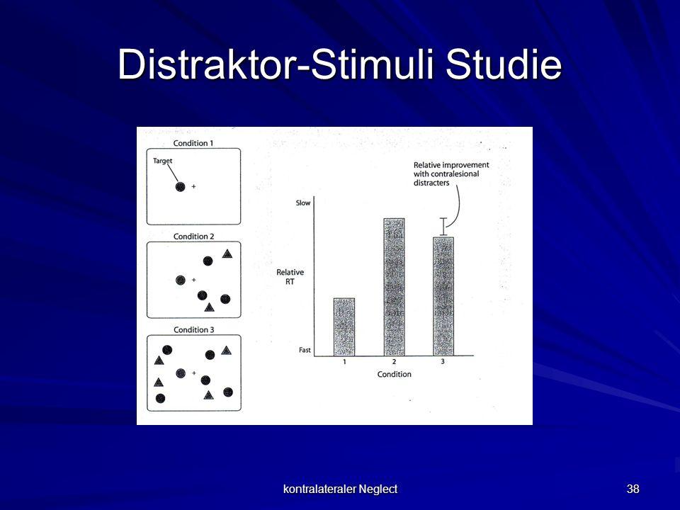 kontralateraler Neglect 38 Distraktor-Stimuli Studie