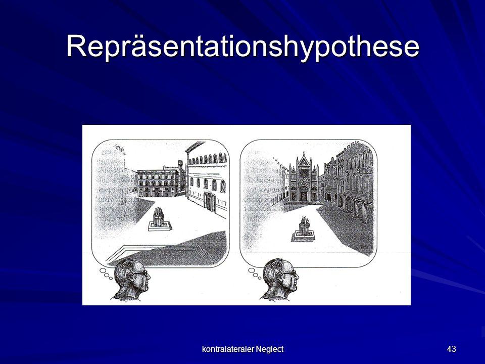 kontralateraler Neglect 43 Repräsentationshypothese