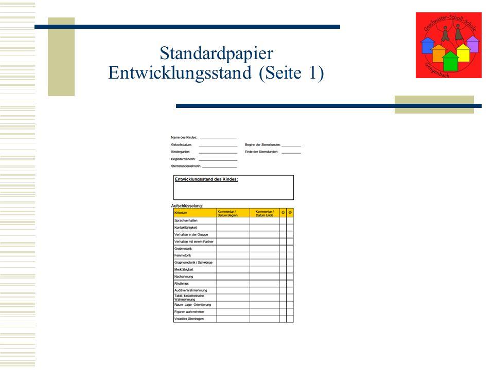 Standardpapier Entwicklungsstand (Seite 1)