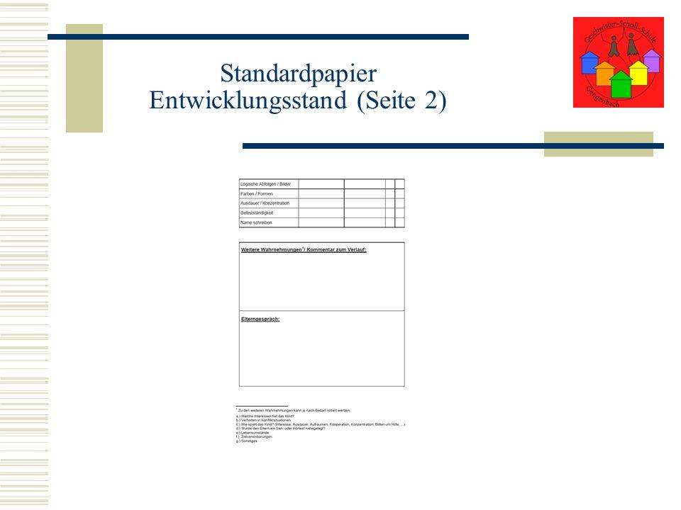 Standardpapier Entwicklungsstand (Seite 2)