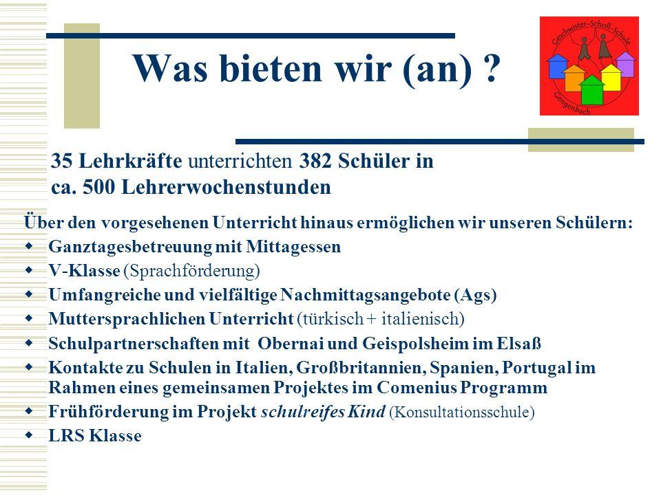 Geschwister Scholl Grundschule Gengenbach Bei Interesse an weiter gehenden Informationen: www.GSG-Gengenbach.de Vielen Dank für Ihre Aufmerksamkeit Wolfgang Böser, Rektor Stand: März 2009